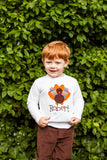 Thanksgiving Bodysuit or Shirt for Baby Boys -- Turkey Shirt or Bodysuit --  with fun turkey feathers - Darling Little Bow Shop