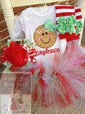 Gingerbread Bodysuit OR Shirt for Girls -- Gingerbread Smiles - Darling Little Bow Shop