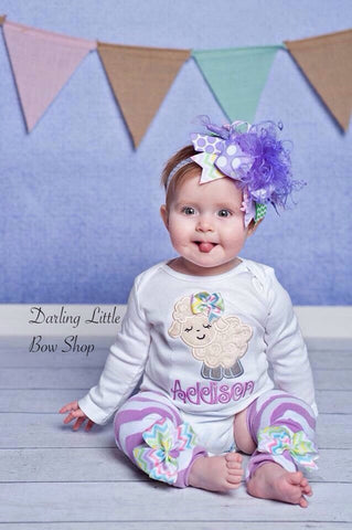 Easter Lamb Outfit for baby girls - Darling Little Bow Shop