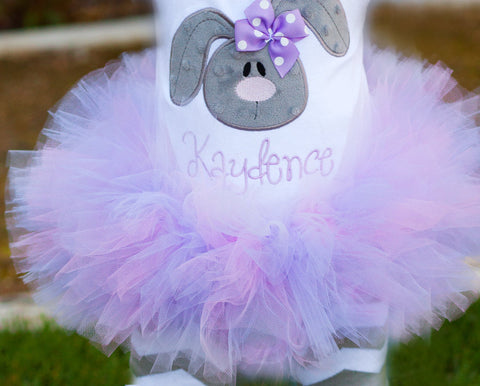 "Pastel Easter Baby Girl Tutu  -- Lavender and Pink -- ""First Easter"" -- Made To Match Easter Bunny or Lamb Oufits -- Tutu Only - Darling Little Bow Shop"