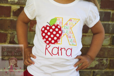 Apple Back to School Shirt Girls -- Apple of My Eye - Darling Little Bow Shop