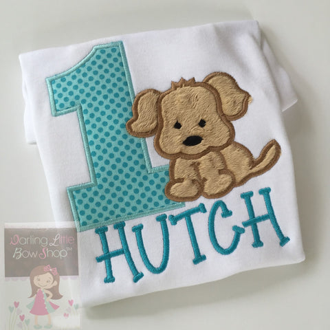 Boys Puppy Birthday bodysuit or shirt, A Puppy Pawty, ANY AGE - Darling Little Bow Shop
