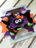 Spider Bow -- Halloween Bow -- Itsy Bitsy Spider - Darling Little Bow Shop