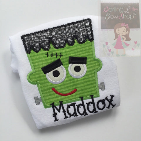 Halloween shirt or bodysuit for babies, boys and girls - Monster Mash Frankenstein - Darling Little Bow Shop