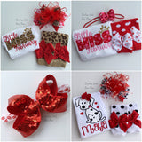 "Red Sequin Bow choose 4-5"" or 6-7"" - Darling Little Bow Shop"