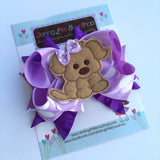 Puppy Bow, Puppy PAWty Puppy theme hairbow - Darling Little Bow Shop