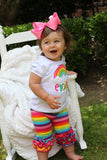 Rainbow shirt or bodysuit for girls - Darling Little Bow Shop