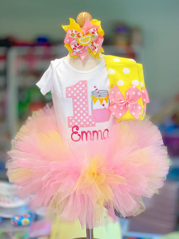 Lemonade Birthday Tutu Outfit - Darling Little Bow Shop