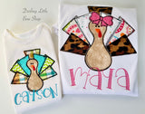 Girly Turkey bodysuit or shirt -- Shake Ya Tail Feathers - Darling Little Bow Shop