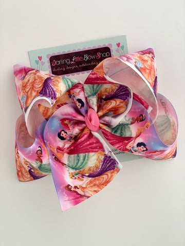 "Princess Hairbow, Princess Bow, Cinderella Bow - Choose 4-5"" or 7"" size - Darling Little Bow Shop"