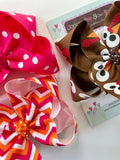 Thanksgiving Sass Hairbow Set LIMITED and READY TO SHIP - Darling Little Bow Shop