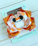 Miss Mouse Halloween Ghost Bow - Darling Little Bow Shop
