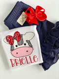 Denim Ruffle Shorties, Dark Jegging Ruffle Shorts - Darling Little Bow Shop