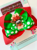 Reindeer Hairbow - Darling Little Bow Shop