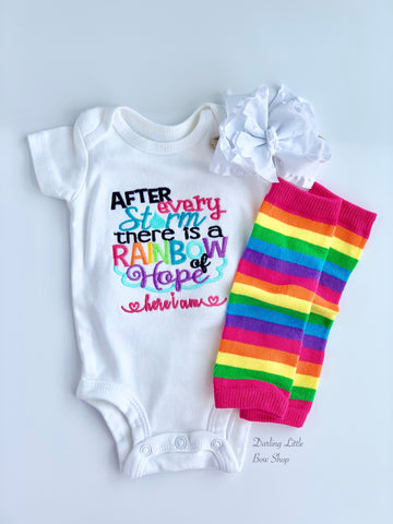 Rainbow Baby Newborn Outfit - Darling Little Bow Shop