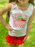 Strawberry Truck shirt, tank top or bodysuit for girls - Darling Little Bow Shop