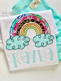 Sassy Rainbow shirt, tank top or bodysuit for girls - Darling Little Bow Shop