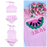 Girls Watermelon Swimsuit for Summer - Choose one or 2-piece - Darling Little Bow Shop
