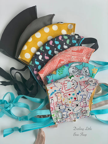 Face Mask in Mens and Ladies/Teen sizes w/ optional pocket Made In USA - Darling Little Bow Shop