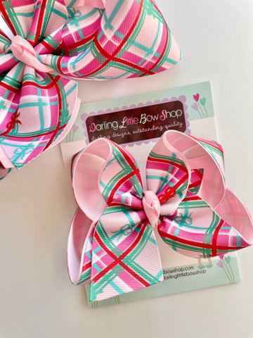 On The Go Plaid Hairbow - READY TO SHIP choose from 2 sizes - Darling Little Bow Shop