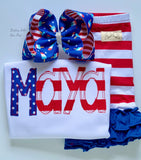 Stars and Stripes, Y'all!  shirt, tank or bodysuit for Girls 4th of July - Darling Little Bow Shop