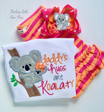 Daddy's Girl Koala shirt or bodysuit - Daddy's Hugs are Koalaty - Darling Little Bow Shop