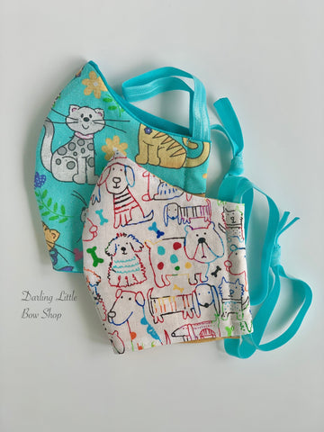 Child's Face Mask - 2 sizes Made In USA - Darling Little Bow Shop