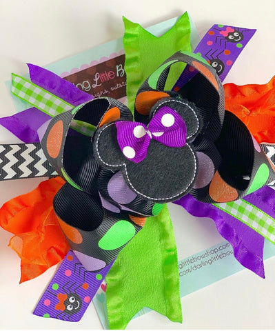 Miss Mouse Halloween Bow - Darling Little Bow Shop