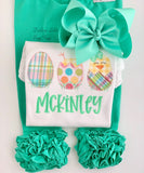 Lucite Mint Hairbow - Darling Little Bow Shop