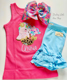Mermaid Unicorn Girls Tank or Ruffle Shirt - Darling Little Bow Shop