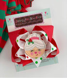 Mrs Claus Hairbow - Darling Little Bow Shop
