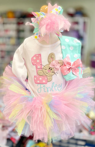 First Birthday Tutu Outfit, Some Bunny Is One - Darling Little Bow Shop