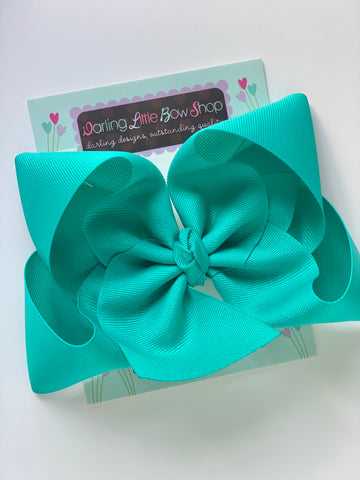 Blue Lagoon Hairbow - Darling Little Bow Shop