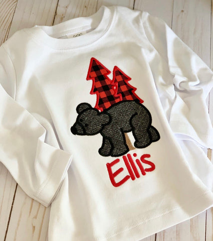 Bear shirt or bodysuit for babies and boys - Darling Little Bow Shop