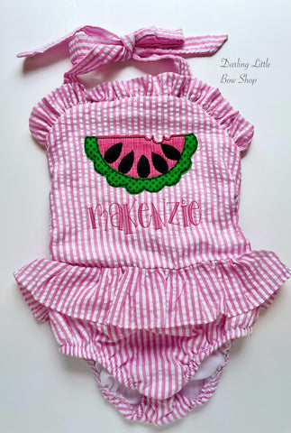 Girls Watermelon Swimsuit for Summer - Choose one or 2-piece