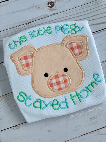 This Little Piggy Stayed Home shirt for boys