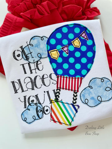 Oh The Places You'll Go Shirt - I love reading - Darling Little Bow Shop