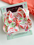 Flamingo bow, Flamingo Coral Hairbow - Darling Little Bow Shop