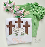Easter Lamb Pigtail bows - choose 1 or 2 bows - Darling Little Bow Shop