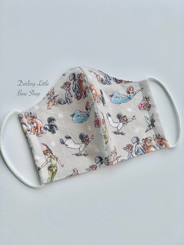 Face Mask in Mens and Ladies/Teen sizes w/ optional pocket, Behind the Ears style, Made In USA - Darling Little Bow Shop