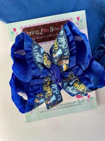 Nativity Hairbow - Darling Little Bow Shop
