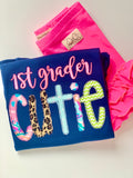 School Cutie shirt - personalize with any grade - Darling Little Bow Shop