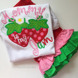 Mommy is my Jam Strawberry shirt, tank top or bodysuit for girls - Darling Little Bow Shop