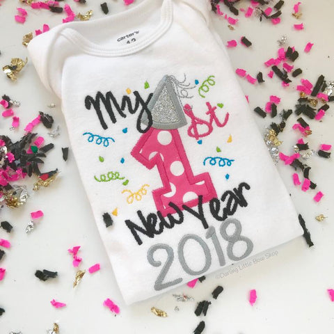 My 1st New Year 2021 bodysuit for baby girls - Darling Little Bow Shop
