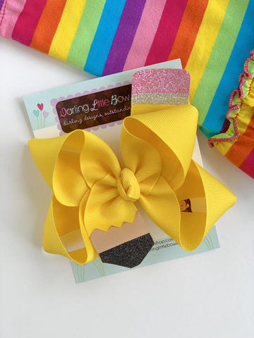 Pencil Hairbow - Darling Little Bow Shop