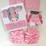 Powder Pink Ruffle Leggings - Powder Pink Icings - gorgeous knit ruffle leggings - size NB to 10 - Darling Little Bow Shop