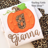 Pretty Posh Pumpkin shirt or bodysuit for girls - Darling Little Bow Shop