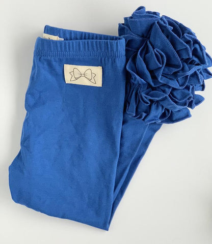 Royal Blue Ruffle Leggings Icings - Darling Little Bow Shop