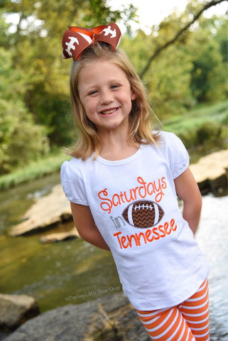 Football shirt or bodysuit for girls - Saturdays are for Footbal - customize with team name and colors - Darling Little Bow Shop