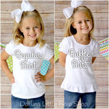 Girls Deer shirt or bodysuit for girls - My Little Deer - Darling Little Bow Shop